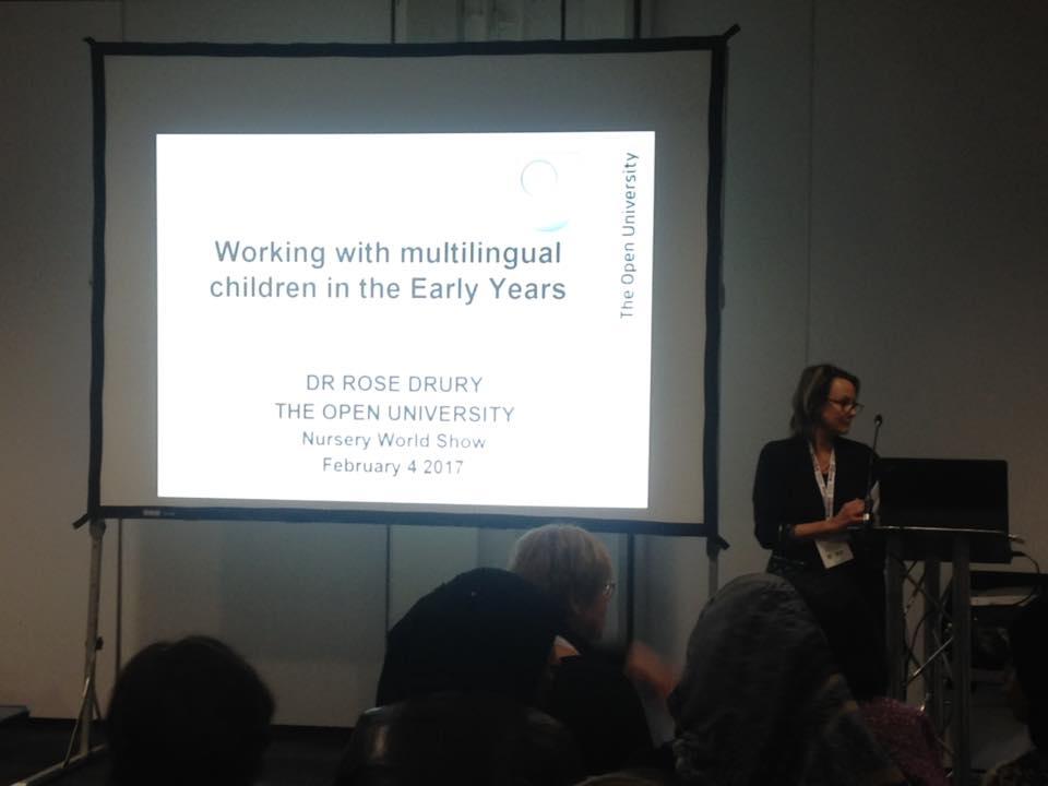Baby Erasmus participa en el seminario sobre Multilingüismo del Nursery World SHOW 2017 de Londres